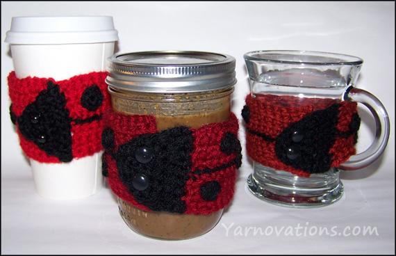 crochet ladybug cozy
