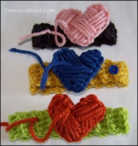 3 heart cozies